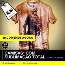 Camisa Personalizada com Sublimação Total
