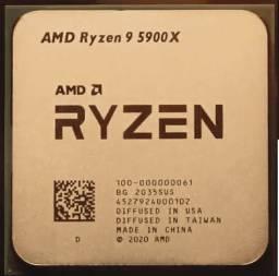 Processador AMD Ryzen 9 5900X 12 Cores / 24 Threads 3,7 à 4,8 GHZ Turbo AM4 - Novo !!!!
