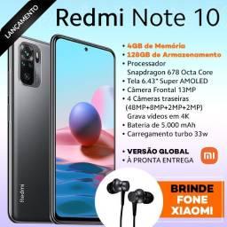 Redmi Note 10 4/128gb + Fone Xiaomi