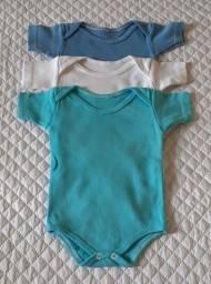 6 Bodys e 3 Calças para bebê