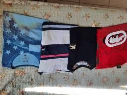 Kit 04 camisas malha tam G (Burberry, Ecko e .m )camisa