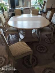 Mesa redonda 10 cadeiras