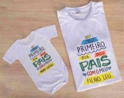 Camiseta dia dos Pais + body