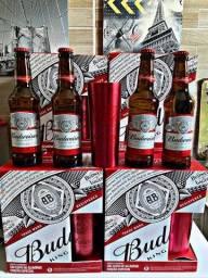 Caixa de cerveja Budweiser + copos ( são 8 caixas )