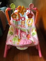 Cadeira de balanço, sling, rede para banheira, bomba tira leite, cinta para cólicas
