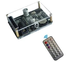 Placa Receptor De Áudio Bluetooth 5.0 Acrilico E Controle
