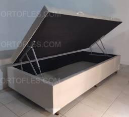 Título do anúncio: Base Box Bau Solteiro - Novo - Várias Cores - Entrega Rápida