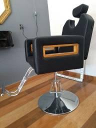 Cadeira reclinável para barbeiro ou cabeleireiro