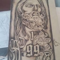 Desenho pirografia
