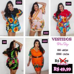 Vestidos estampados Plus Size