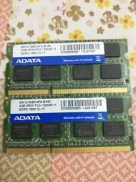 MEMÓRIA NOTEBOOK DDR3 SÃO DUAS MEMÓRIAS DE 4 GIGAS