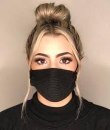Vendo máscaras caneladas de tricot 100% viscose