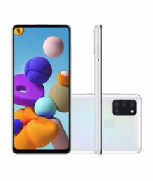 Smartphone samsung sm-a217 galaxy a21s 64gb branco