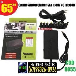 Carregador Universal para notebook (entrega grátis)