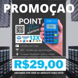 Maquininha de Cartão Point Mini - SEM ALUGUEL E SEM ADESÃO.