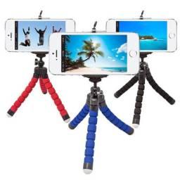 Frete grátis mini tripé flexível com suporte para celular câmera