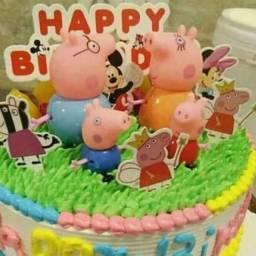 Família Peppa pig para decoração de bolo