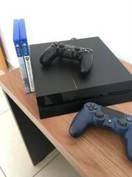 PS4 Fat 2 Controles e 2 jogos