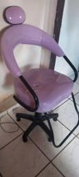 Cadeira giratória para salão
