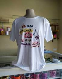 Camisas personalizadas presente para o dia das mães