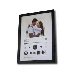 Quadro Personalizado Spotify A3 45cmx33cm (dia dos pais)