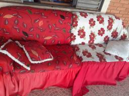 2 sofás de 2 lugares uma cama de solteiro