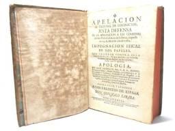 Livro: Apelacion Al Tribunal de los Doctos - 266 ANOS - 1752