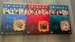 3 Temporadas 12 discos Friends semi novo