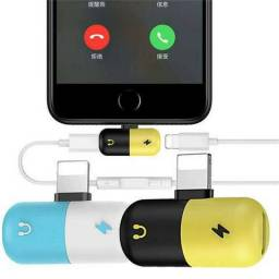Adaptador para Carregador e Fone - iPhone 7, 8 e X