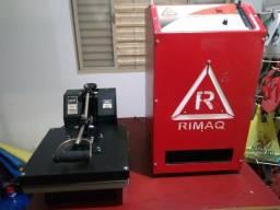 Máquina de fazer chinelos Rimaq e Prensa termica