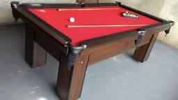 Mesa de Bilhar e Sinuca Tecido Vermelho Modelo OY9087