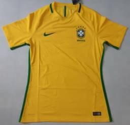 e47ae873d9 Camisa Nike Seleção Brasileira 2016  2017 I Home Jogador Aeroswift Vapor