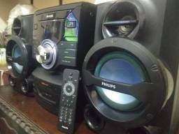 Som Philips FWM210 - c/ Bluetooth - 1600W - CD Player - USB (Pendrive) - AM/FM - Tudo OK