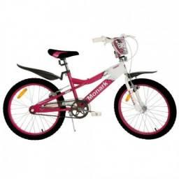 Bicicleta Monark Bmx Ranger Aro 20 Rosa Branco Original - UN