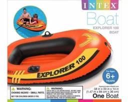 Bote Inflável Intex + salva vidas + remo