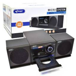 Micro System Home Theater 2.0 Bluetooth Kp-6026bh Knup com Dvd Usb 50W Potência Fm Mp3