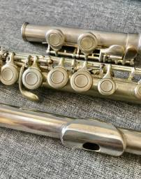 Flauta Transversal Michael banho de prata
