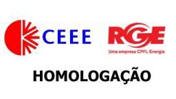 Homologação sistema solar fotovoltaico CEEE ou RGE até 10kWp