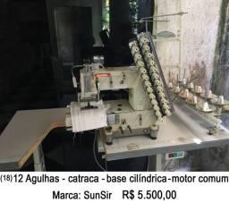 Máquina de costura industrial 12 agulhas