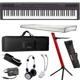 Piano Digital Yamaha P125 Bk Preto 88 Teclas + Kit - Produto Novo - Loja Física