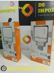 Carregador pra smartphone Samsung, LG, Motorola e Xiaomi