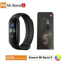 Relógio Mi Band 5 português + película 100% original Xiaomi  Garantia
