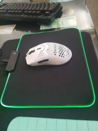 Mouse Pad Gamer Preto LED RGB NOVO lacrado