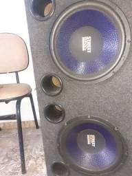 Caixa de som com dois sub de 12 polegadas sellenium
