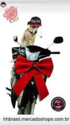 Laço Veludo Vermelho para Moto, Parabrisa, Promoção, Inauguração