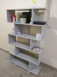 estante de livros, semi nova