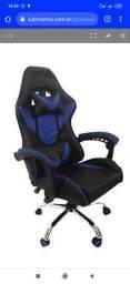 cadeira gamer azul - lacrada nova na caixa