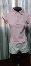 Título do anúncio: Blusa Polo Rosa - Tam. P