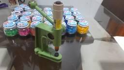 Balancim- maquina de pregar botões mais todos botões q estão na foto