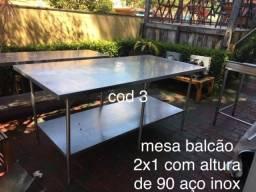 Mesa, Aço Inox,2000x700x900 Mm